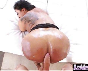 Hot immodest floozy white bitch (kiara mia) with big booty banged analy vid-16
