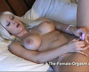 Pornstars have pulsating real orgasms too!