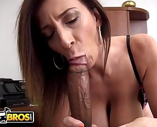 Bangbros - busty milf sara jay sucks a large black penis like the professional that playgirl is