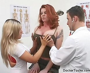 KAYLA QUINN GET NUDE FOR HER EXAM AND PAP SMEAR ANAL EXAM BY TWO DOCTORS