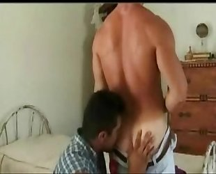 Two Tan Muscular Studs Fuck and Suck