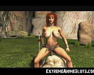 Ogre Fucks 3D Busty Girl!