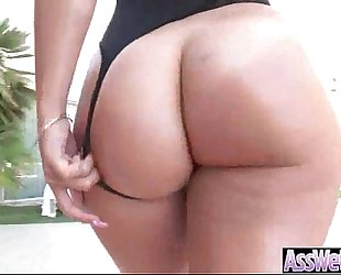 Round massive booty white slutwife (kelsi monroe) in hardcore style anal sex tape clip-20