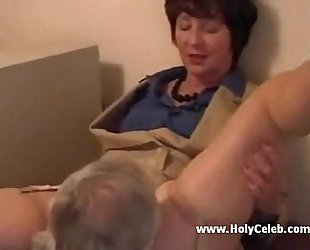 Mature Office Lady gets Laid