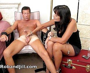 CFNM Handjob Training with Post Orgasm