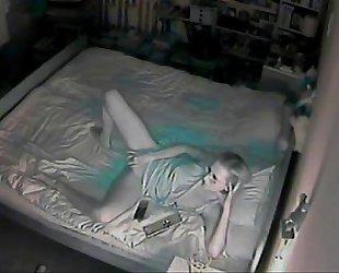 My Polish wife watching porn and masturbating