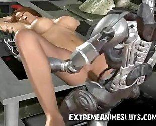 Terminator Cums on Sarah Connor!