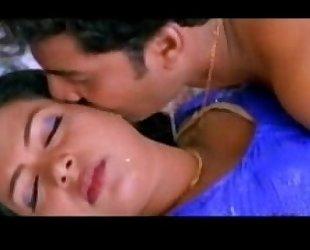 Sajini blue saree ultimate