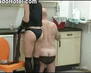 Slave obeying his hot mistress Simone