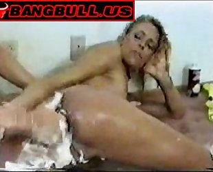 Mature Mistress rough fucks blonde slave
