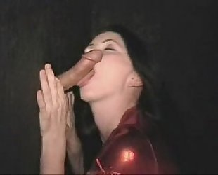 Amber Sucks A Dick From A Hole