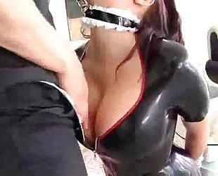 Gianna Micheals - A latex slave