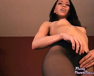 Veronica Encouraging JO Session in Pantyhose