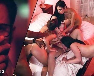 Four gorgeous ladies organized passionate orgy