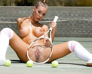 Gorgeous tennis chick with big juggs gets deeply fucked