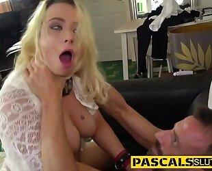 Spunky blonde bitch gets brutally fucked by her BDSM master