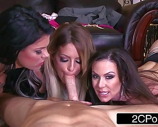 World's luckiest guy and his 3 wives - kendra craving, kissa sins, peta jensen