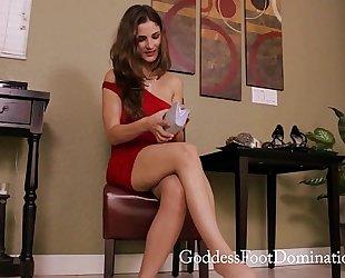Last jerk then chastity pov foot domination