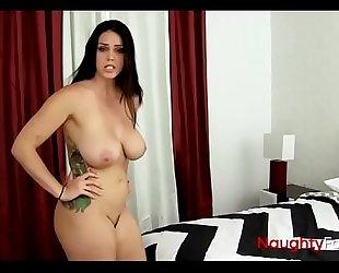 Busty Slut Swallows A Mouthful
